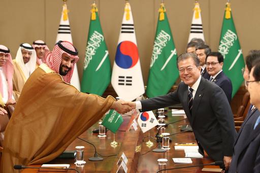 韓国とサウジが経済協力協定、9000億円規模 皇太子初訪韓で