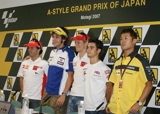 世界ロードレース選手権・日本GP開幕を控え記者会見が行われる