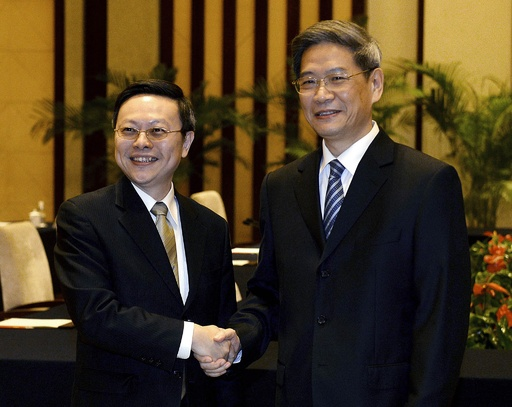 中国と台湾、分断後初の閣僚級対談