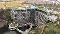 採石場の穴を利用した「地下ホテル」がオープン 上海
