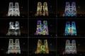 ノートルダム寺院、カラフルにライトアップ 第1次世界大戦100年イベント
