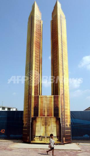 カンボジア初の高層ビル、起工