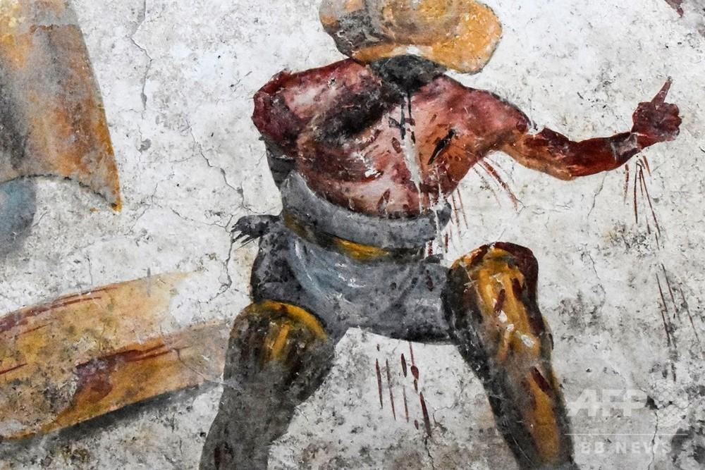 古代都市ポンぺイで剣闘士(グラディエーター)を描いた鮮やかなフレスコ画が発掘される  [668970678]->画像>127枚