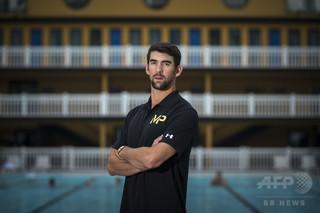 フェルプス氏がサメと100メートル対決、米国競泳チームも結果に興味津々