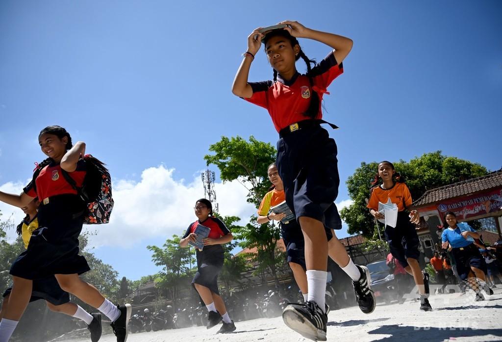 「世界津波の日」 バリ島で大規模避難訓練