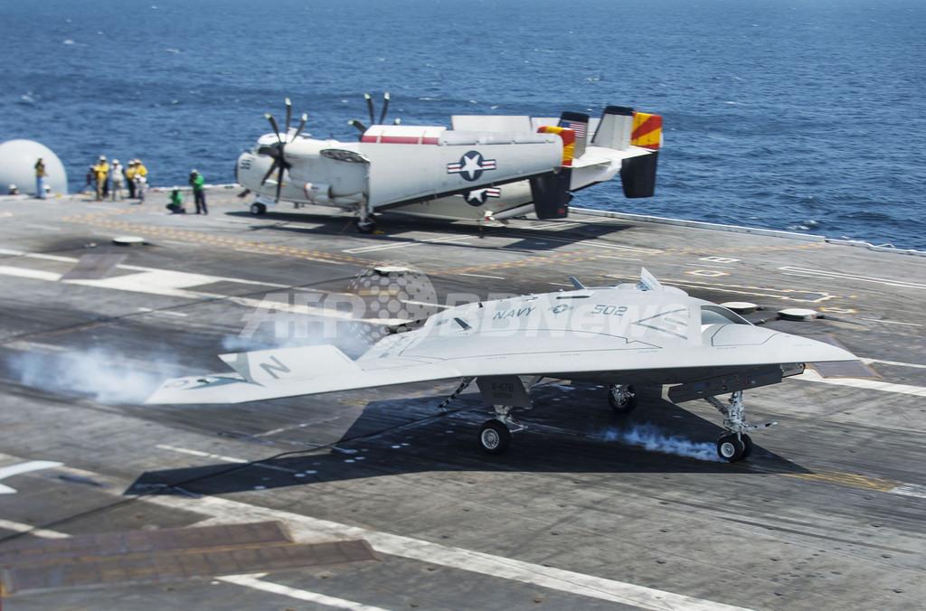 米無人機X47B、空母への着艦に成功 史上初