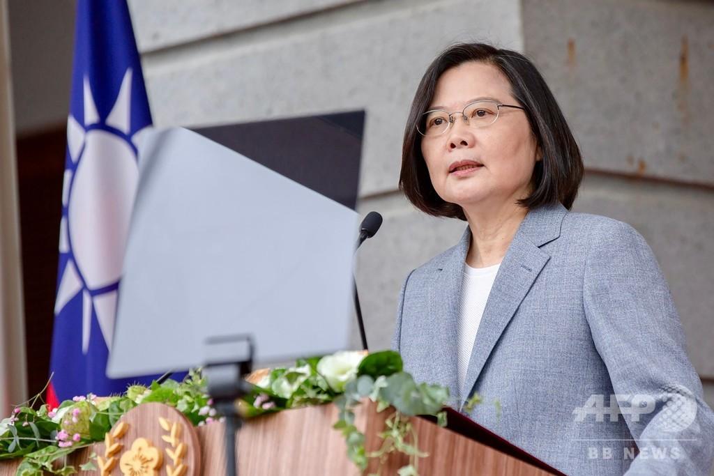 2期目就任の蔡総統、中国に民主的な台湾との「共存」を要求