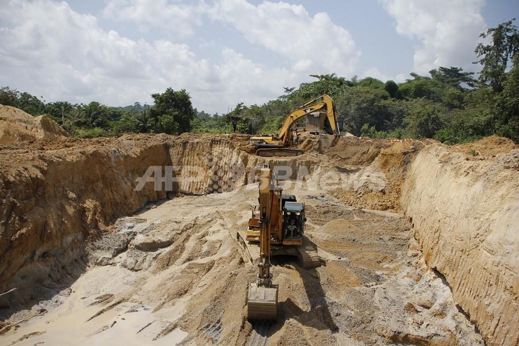 リベリアで30トンの金鉱を発見、年内採掘へ 住民数千人移住