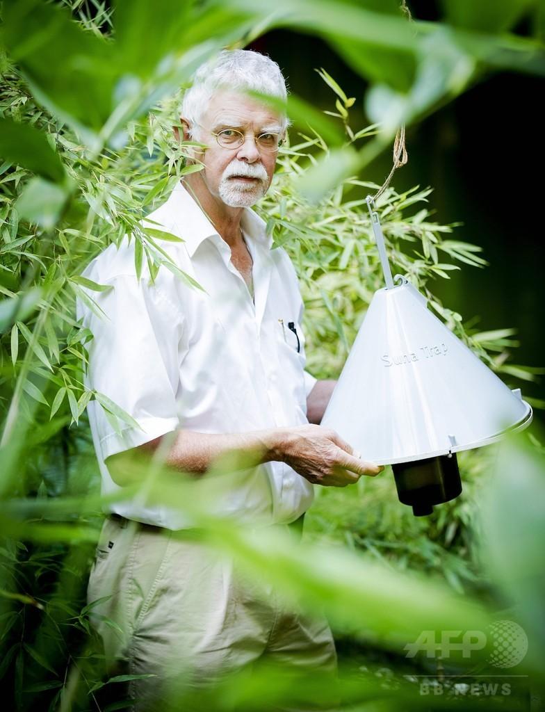 「人のにおい」で誘引、マラリア対策で蚊取り器開発 研究