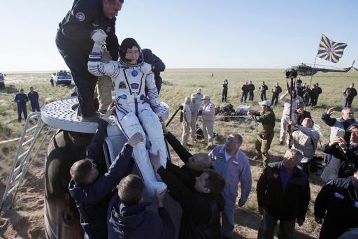 宇宙飛行士の金井さん帰還 ISSに168日滞在