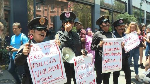 動画:警官による少女レイプに女性たちが抗議デモ メキシコ