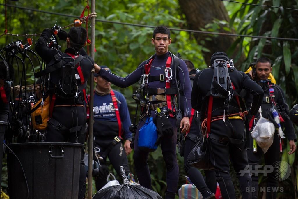 タイ洞窟の救援活動で死者、元特殊部隊員が酸欠で