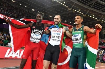 グリエフが男子200mで金、バンニーキルクの2冠阻む 世界陸上