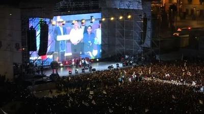 動画:メキシコ大統領選、対米強硬の左派ロペスオブラドール氏が勝利確実 政権交代へ