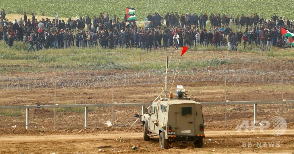 ガザ地区で大規模な抗議デモ、参加者4人死亡 316人負傷