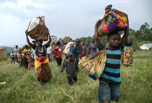 コンゴ民主共和国の戦闘激化、約7000人の避難民 湖を渡りブルンジに