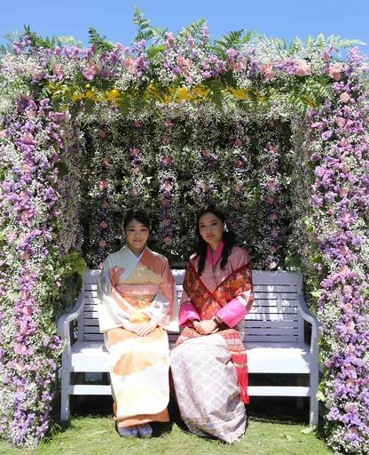 ブータン訪問中の眞子さま、「花の博覧会」開会式に