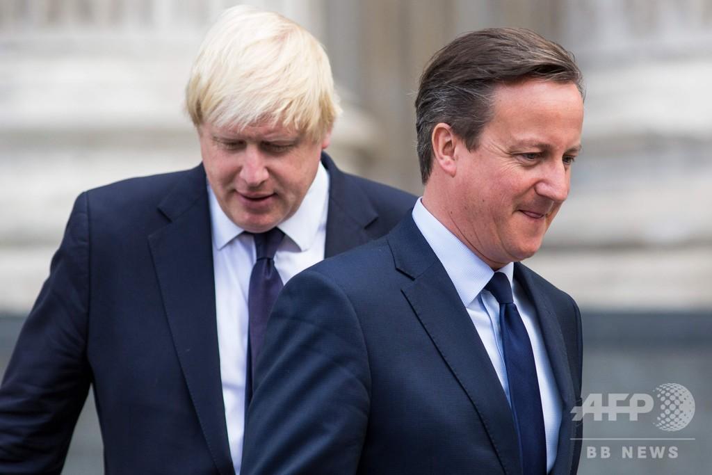 ブレグジット国民投票実施に「後悔はない」、キャメロン英元首相