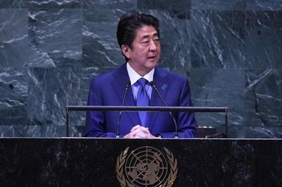 安倍首相「金委員長と直接向き合う」 国連演説で会談実現に意欲