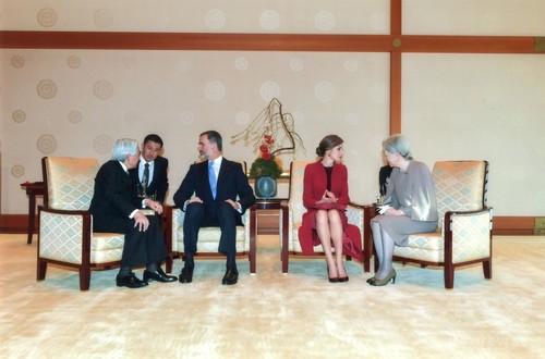 スペイン国王夫妻、皇居を訪問 両陛下と懇談