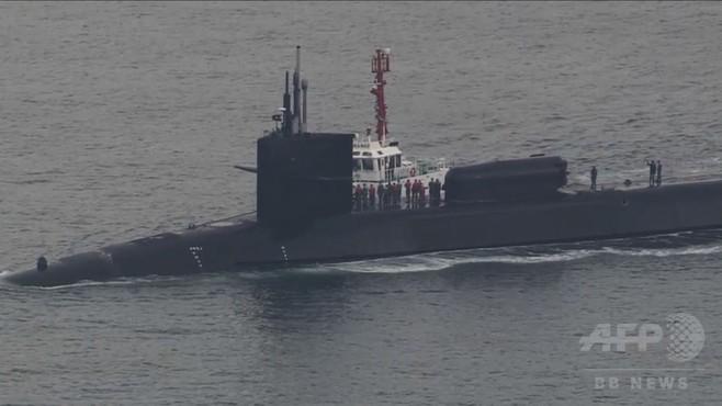 動画:米の原子力潜水艦ミシガン、韓国・釜山に入港