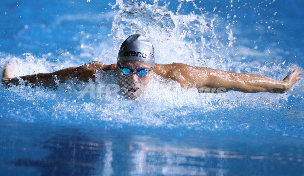 <第12回世界水泳選手権>競泳、スクーマン 予選2位で50メートル・バタフライ準決勝へ - オーストラリア