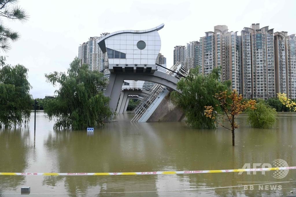 長江沿岸で洪水、浸水被害も 中国・南京