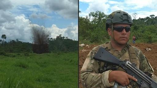 動画:ペルー軍、アマゾンで麻薬組織の飛行場を使用不能に