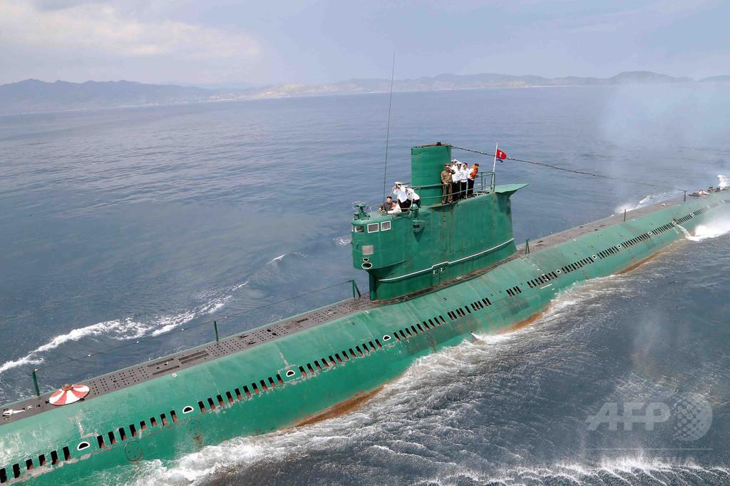 北朝鮮、「新たな」SLBM発射実験の映像 信ぴょう性に疑問