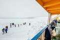 南極海でロシア船が立ち往生、厚い氷が救助船も阻む
