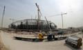 2022年サッカーW杯カタール大会のスタジアム建設風景(2018年2月6日撮影)。(c)AFP/KARIM JAAFAR
