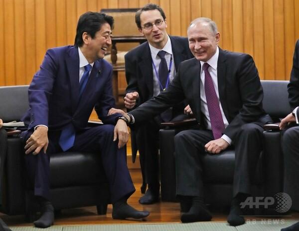 プーチン露大統領、講道館で柔道の演武を見学
