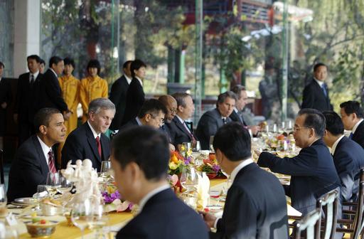 オバマ米大統領、温首相と会談 訪中日程終了へ