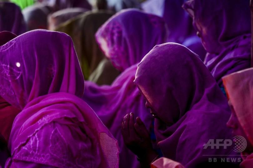 ロヒンギャ難民女性に心の平穏、男子禁制の「ウィドーキャンプ」