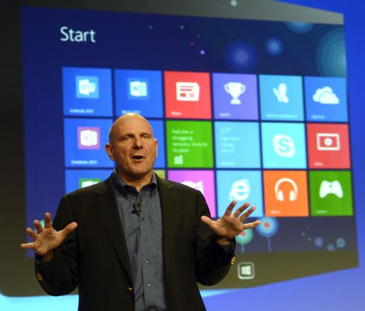 米マイクロソフト、ウィンドウズ8とタブレット端末サーフェスを発売