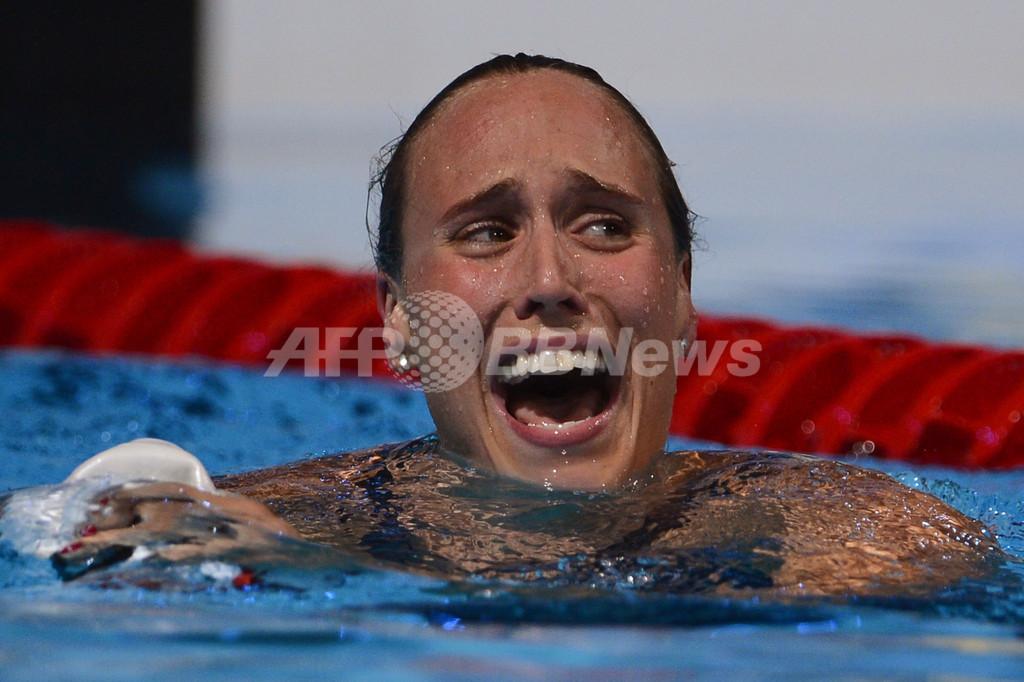 ペデルセンが女子200メートル平泳ぎで世界新記録、第15回世界水泳