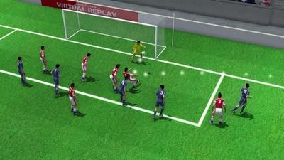 3D動画:後半32分のサンタンデールのオウンゴール、日本対パラグアイ