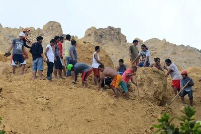 比セブ島の土砂崩れ、死者22人に 依然50人行方不明