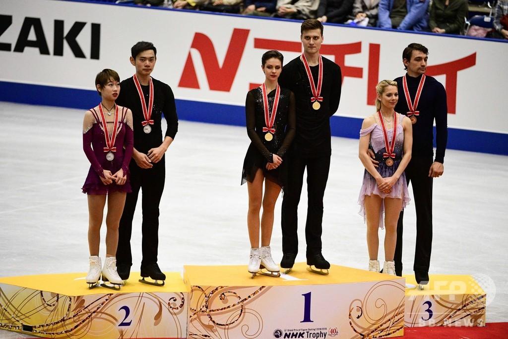 ペアでロシア組、アイスダンスは米カップルが優勝 NHK杯