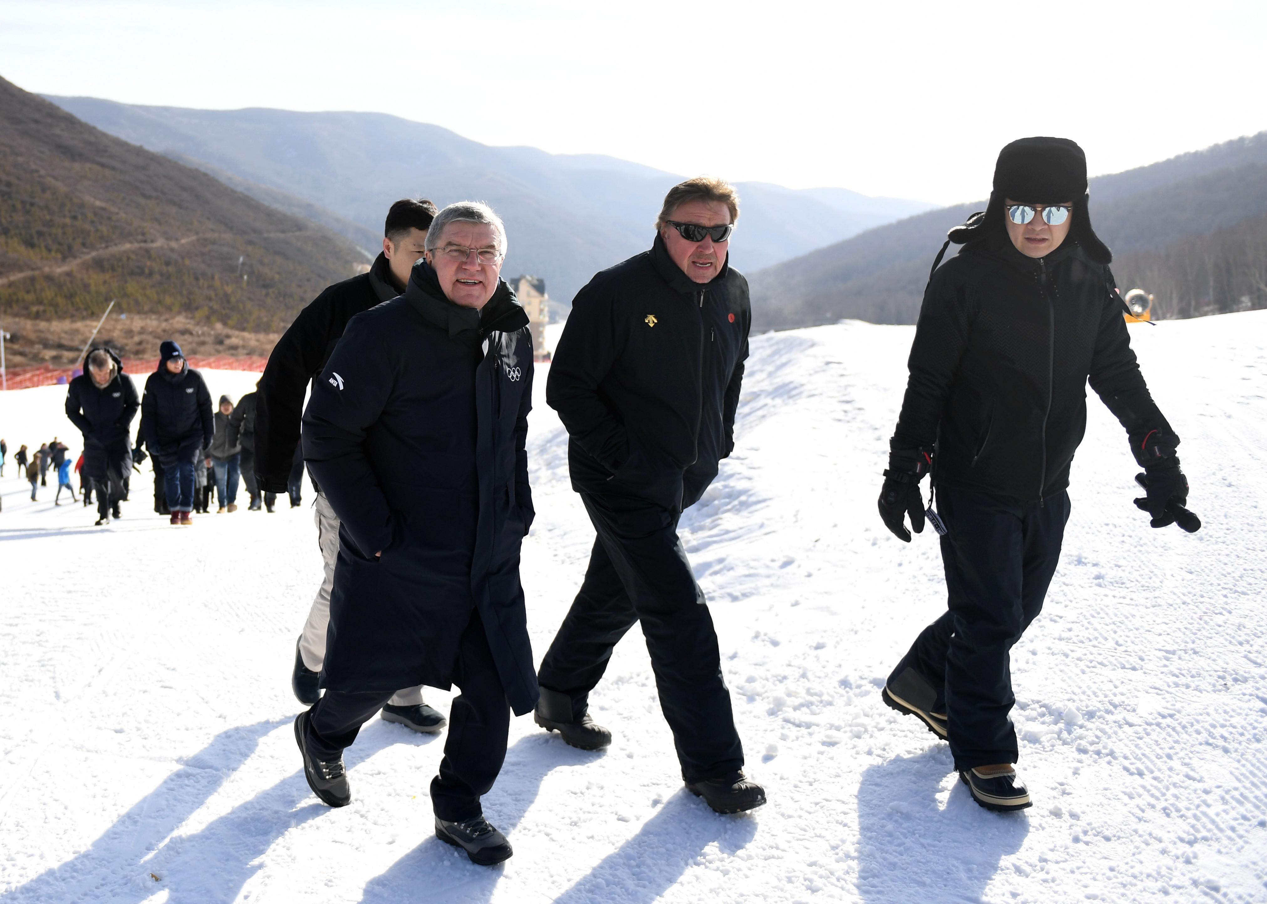 IOC会長、2022年北京冬季五輪の準備状況を視察