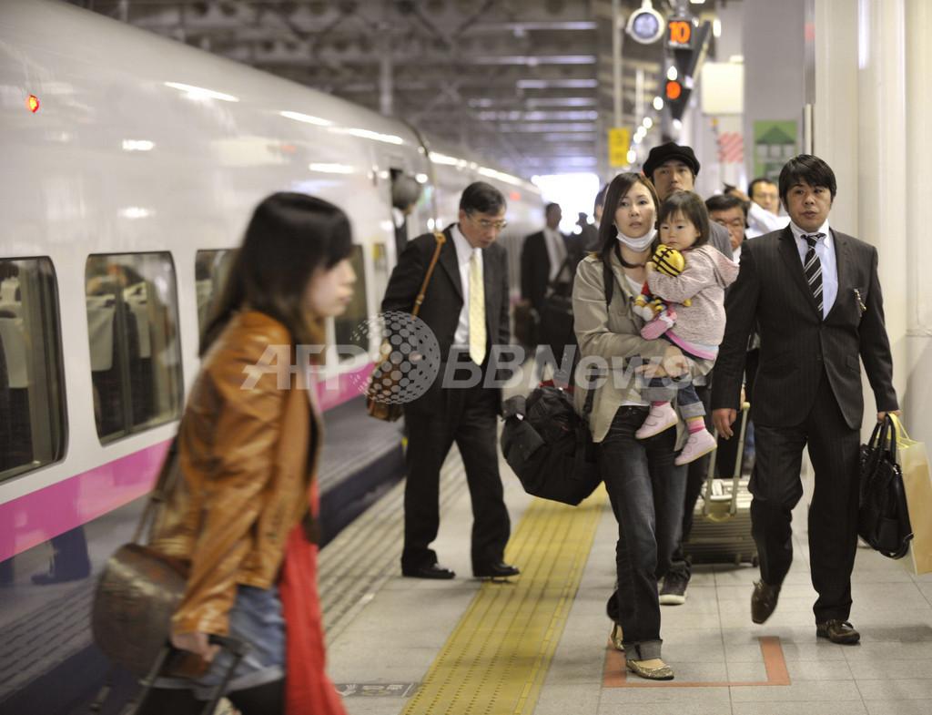 東北新幹線、仙台~東京が再開、震災から1か月半