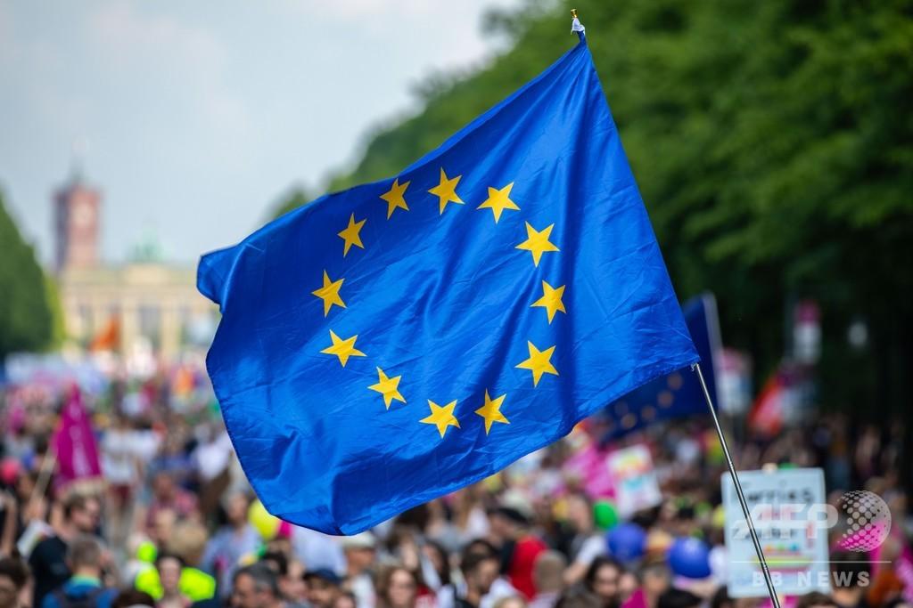 独各地で反国家主義デモ、伊では欧州右派勢力結集 欧州議会選前夜