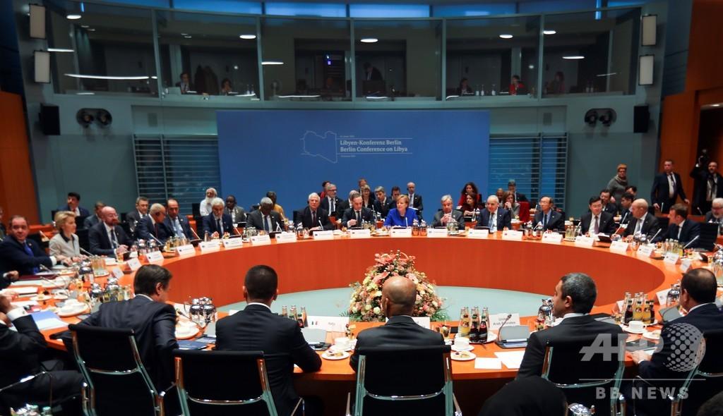 リビア内戦への「干渉控える」 世界の大国が表明 和平国際会議