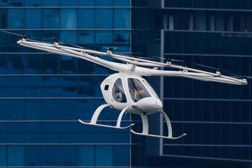 空飛ぶタクシー、シンガポールで試験飛行 早ければ2年後の商用化も