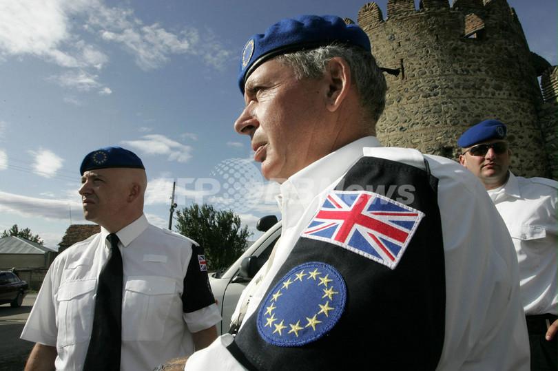 EUの停戦監視団、グルジアで活動開始