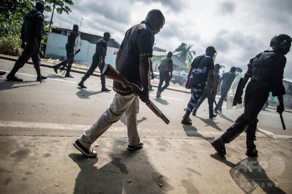 ガボン暴動、警察が1000人拘束 大統領「野党勢力は破壊集団」
