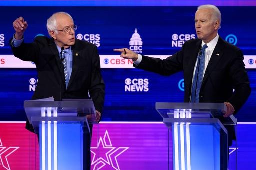 米民主党討論会、指名争いトップのサンダース氏に集中攻撃