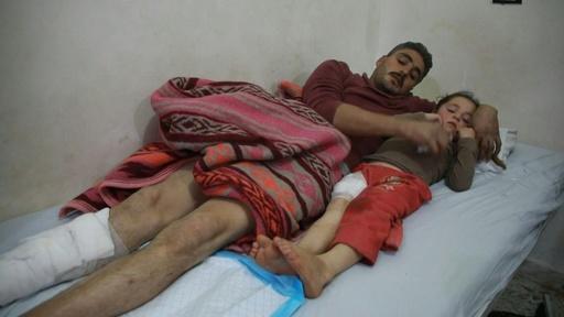 動画:シリア避難民キャンプを政府軍が空爆 「子どもたちだ、テロリストじゃない」