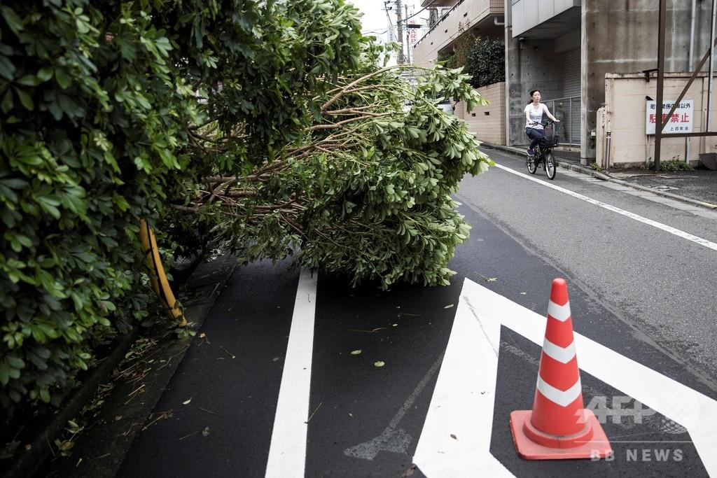 台風15号、関東に上陸 東京都で1人死亡