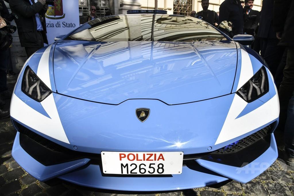 警察車両にランボルギーニの「ウラカン」新モデル、イタリア